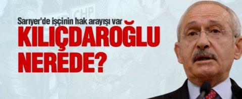 Kılıçdaroğlu, mevzu bahis CHP'li belediye olunca sessizliğe büründü.