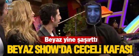 Beyaz Show'da Mustafa Ceceli Kafası