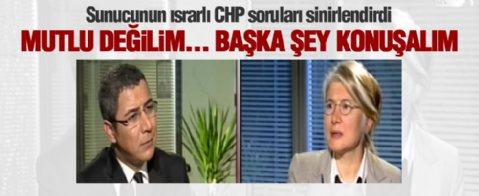 Sunucunun ısrarlı CHP soruları Emine Ülker Tarhan'ı sinirlendirdi