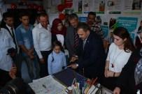 Bakan Eroğlu Ebru Sanatı Yapıp Cam Üfledi