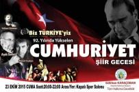 AŞıK SEFAI - Alaşehir'de 'Yükselen Cumhuriyet' Şiir Gecesi