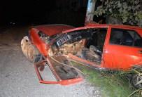 MEHMET NACAR - Ortaca'da Otomobil Elektrik Direğine Çarptı; 2 Yaralı