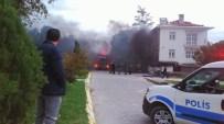 Tadilat Yapılan Banka Şubesinde Yangın Çıktı