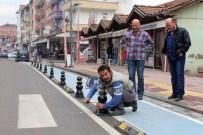 KOZCAĞıZ - Bisiklet Yoluna Araç Çekilmesine Dubalı Çözüm