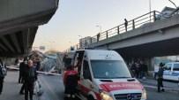 Başkent'te Köprüden Uçan Tır, Otomobilin Üzerine Düştü
