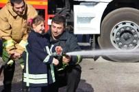 İSMAIL HAKKı KARADAYı - Engelli Çocuklar Yangın Tatbikatı Yaptı
