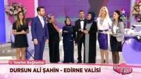 SEDA SAYAN - Edirne Valisi Şahin'den, Evlenecek Çifte Canlı Yayında 'Sürpriz