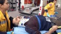 Elektrik Akımına Kapılan İşçi Hastaneye Kaldırıldı
