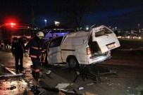 Kontrolden Çıkan Minibüs Takla Attı Açıklaması 4 Yaralı