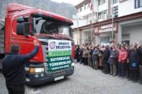 KÖMÜR SOBASI - Amasya'dan Bayırbucak Türkmenlerine 2 Tır Dolusu Yardım