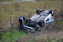 Otomobil Şarampole Yuvarlandı Açıklaması 1 Yaralı