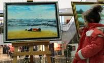 EMEKLİ MEMUR - Bodrum Kıyılarında Yüzükoyun Yatan Cesediyle Tüm Dünyayı Sarsan Aylan Bebek, Erzurum'da Resmedildi