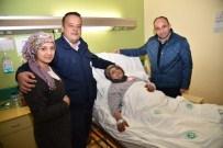 Başkan Üzülmez'in Hasta Ziyaretleri Sürüyor