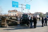 ALI GÜNGÖR - Turhal'da traktör ile tır çarpıştı 3 yaralı