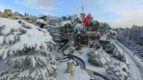 KAR MANZARALARI - Kartpostallık Kış Manzaraları Havadan Görüntülendi