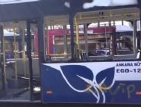 BAĞLUM - Başkentte belediye otobüsüne saldırı