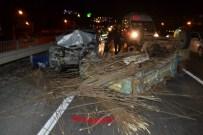 MUSTAFA KARAGÖZ - Otomobil Patpata Çarptı Açıklaması 4 Yaralı