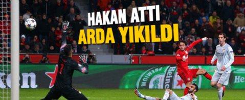 Hakan Çalhanoğlu attı Leverkusen avantajı yakaladı