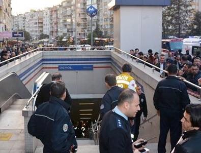 İzmir metrosunda korkunç kaza