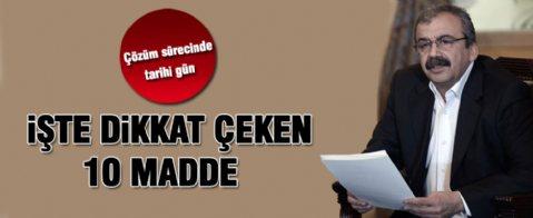 PKK'ya silah bırakma çağrısında dikkat çeken 10 madde