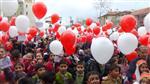 4+4+4 SİSTEMİ - Şehitler İçin Gökyüzüne Şiir ve Resimlerle Dolu Yüzlerce Balon Bıraktılar