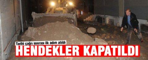 PKK'nın Cizre'de açtığı hendekler kapatıldı