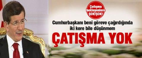 Davutoğlu: Erdoğan'la görüş ayrılığı yok