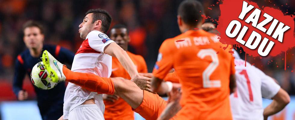 Türkiye, Hollanda'da son dakikada kaybetti