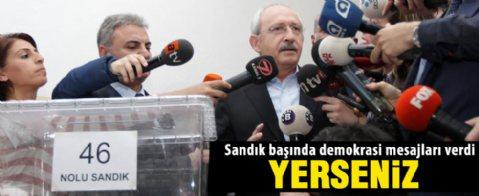 CHP Genel Başkanı Kılıçdaroğlu adayını seçti