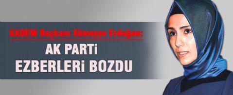 Sümeyye Erdoğan:Kadınları ezen uygulamalar Batılı ülkelerde görülüyor