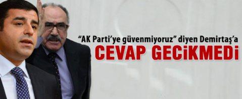 Atalay'dan Demirtaş'a tepki