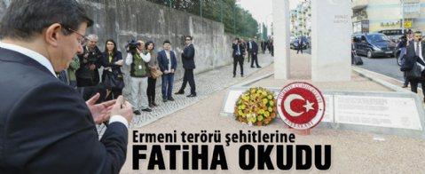 Davutoğlu Lizbon'daki şehit diplomatlar anıtını ziyaret etti