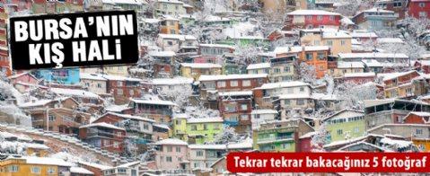 """Bursa'nın 'Kış Hali"""""""