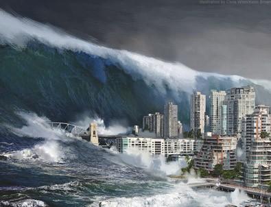 Şiddetli deprem sonrası Tsunami uyarısı