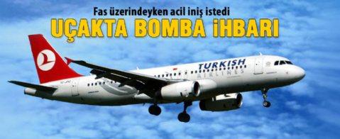 THY uçağında bomba ihbarı