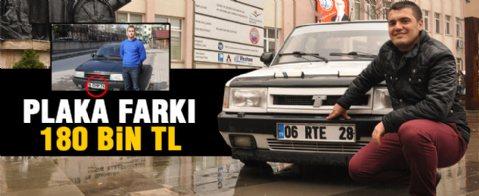 '06 RTE 28' plakalı Şahin marka aracı için 200 Bin Tl istiyor