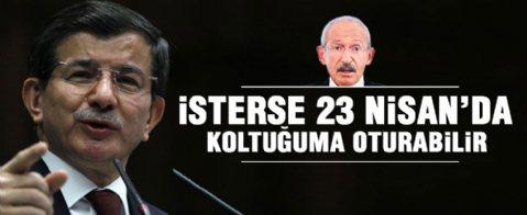Başbakan Davutoğlu'ndan Kılıçdaroğlu'na 23 Nisan göndermesi