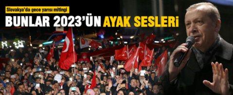 Erdoğan'a coşkulu karşılama
