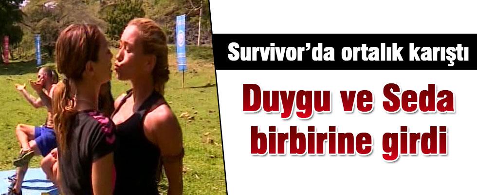 Survivor'da Duygu ve Seda birbirine girdi