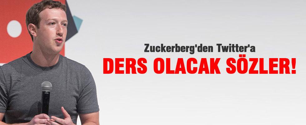 Zuckerberg'den Twitter'a ders olacak sözler