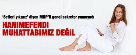 MHP'den Hülya Avşar'a yanıt
