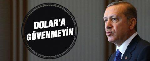Cumhurbaşkanı Erdoğan'dan Dolar çıkışı