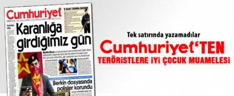 Cumhuriyet gazetesi terörist diyemedi