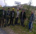 KÖY MEZARLIĞI - Gökbez Köyünde Ağaç Dikme Seferberliği