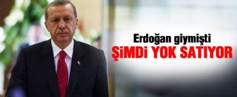 Erdoğan giymişti, şimdi yok satıyor