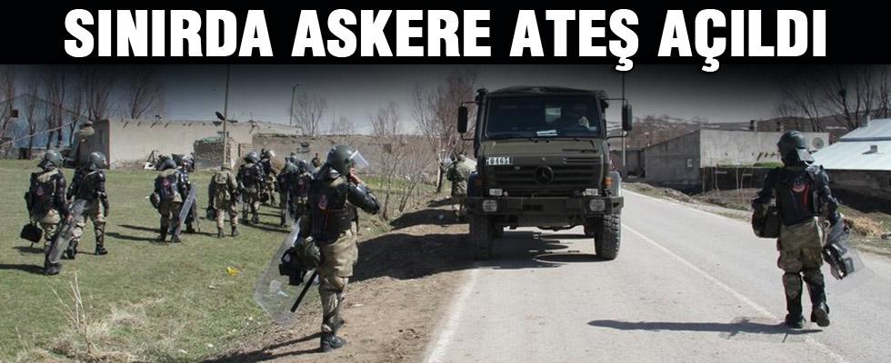 Sınırda askere ateş açıldı