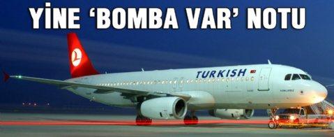THY uçağında yine 'bomba var' notu