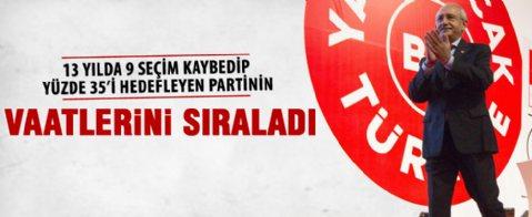 CHP'de seçim beyannamesi günü
