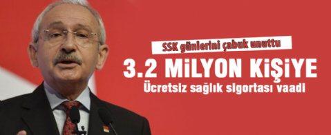 Kılıçdaroğlu'ndan ücretsiz sağlık sigortası vaadi