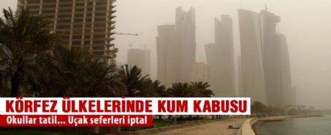 Körfez ülkelerinde kum fırtınası